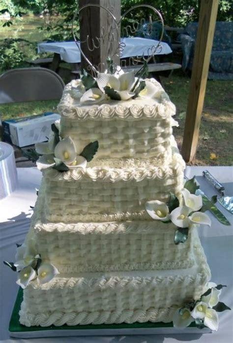 Square Basketweave Wedding Cake Cakecentralcom