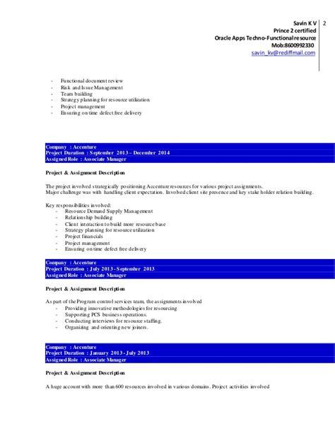 Sas Bi Developer Resume by Resume Savin Velayudhan Oracleapps
