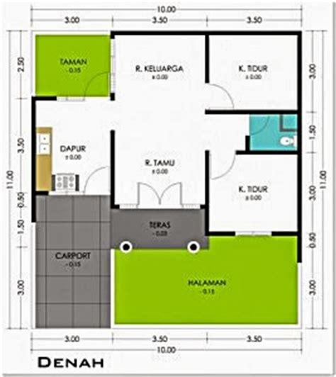 contoh gambar denah rumah minimalis terbaru