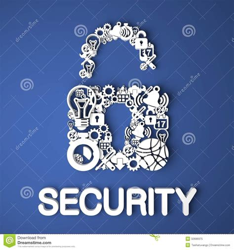 Internet Security Concept. Stock Illustration. Image Of