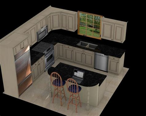 luxury  kitchen layout  island