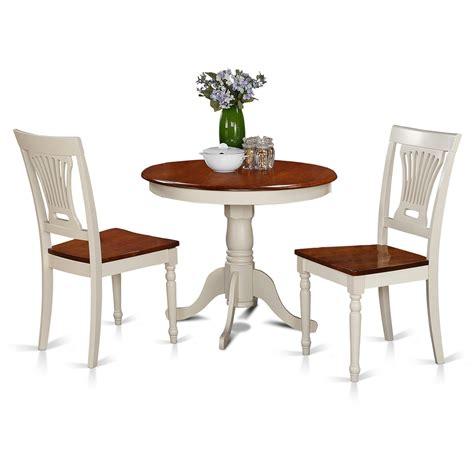 kitchen nook furniture set east west furniture anpl3 whi w 3 kitchen nook