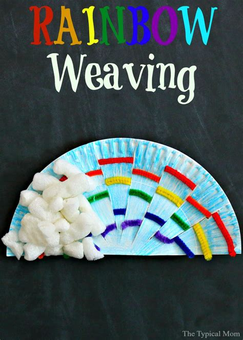 rainbow weaving art  typical mom