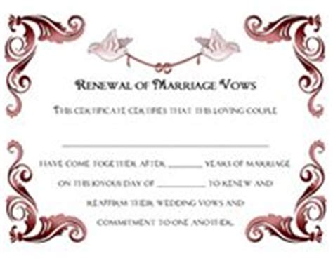 Vow Renewal Certificate Template by 1000 Images About Vow Renewal On Vow Renewals