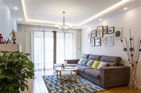 98 square meter living room with Scandinavian design