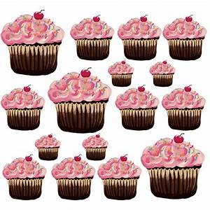 sherri blum large pink cupcake wall stickers kids wall With beautiful cupcake wall decals