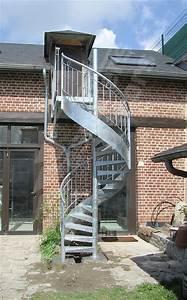 Rampe Pour Escalier : photo dh98 spird co larm escalier ext rieur h lico dal en acier galvanis avec rampe en fer ~ Melissatoandfro.com Idées de Décoration