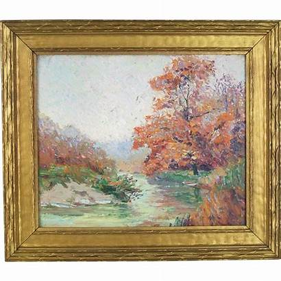 Century 20th Early Landscape Impressionist Artist Chicago
