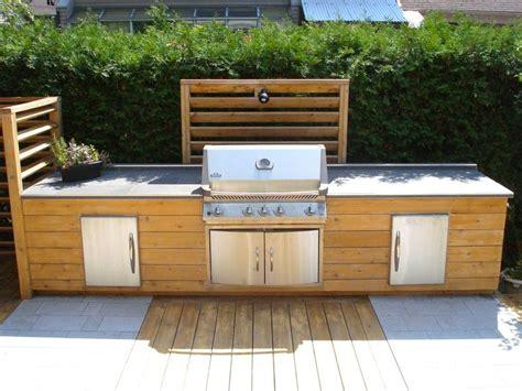 meuble cuisine exterieure cuisine extérieure en bois projet cuisine extérieure