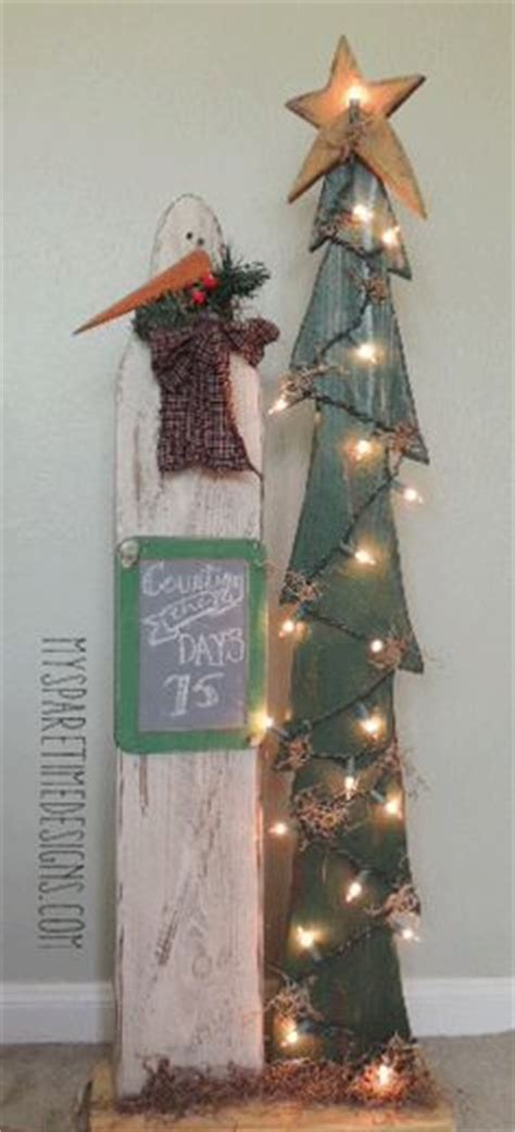 ideas  primitive christmas tree  pinterest