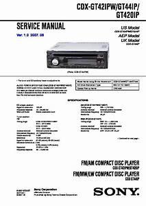 Sony Cdx Gt420ip Wiring Diagram
