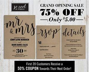 wedding invitation printable rustic chic modern With wedding invitation pdf print yourself