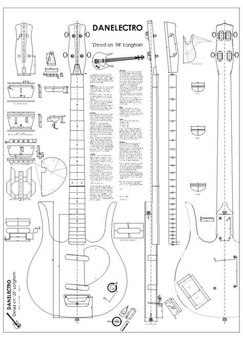 bass headstock template danelectro danelectro longhorn plan model download a free copy
