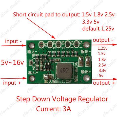 dc buck step converter 1 25v 1 5v 1 8v 2 5v 3 3v 5v