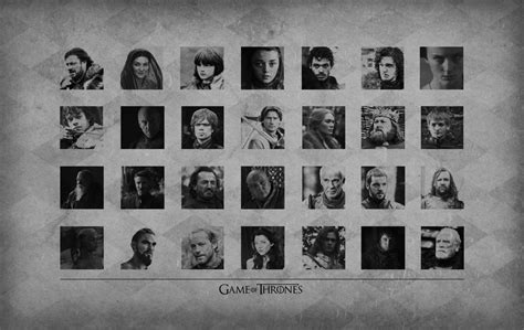 game  thrones characters wallpaper gallery