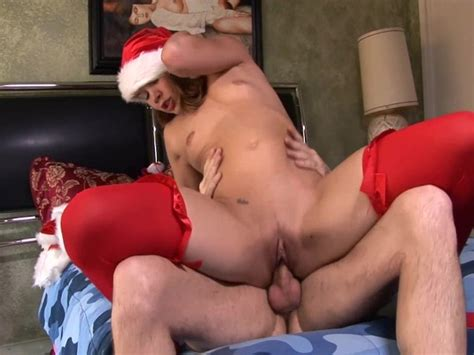 Christmas Sex In Red Lingerie With A Sexy Brunette Free Porn Videos Youporn