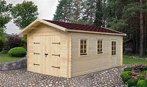 Garage Voiture En Bois : garage prfrabriqu en bois massif avec bardeau bitumeux 20 m2 ~ Dallasstarsshop.com Idées de Décoration