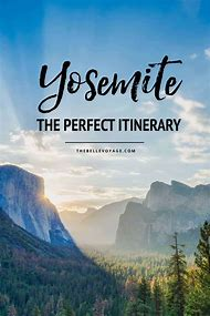 Yosemite National Park Itinerary