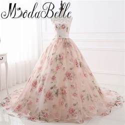 beautiful cheap wedding dresses beautiful flower print floral wedding dresses real photo princess cheap simple lace pink blush