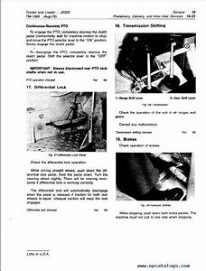 John Deere Jd302 Tractor Loader Tm1089 Technical Manual