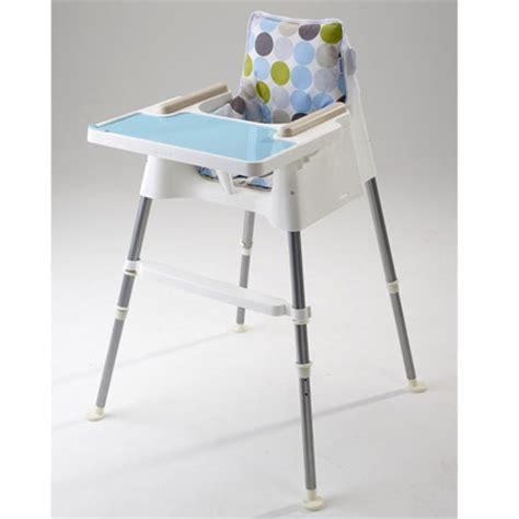 beaba chaise haute cube blanc turquoise