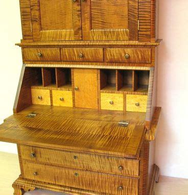 hand  childs tiger maple secretary desk  dellabrook