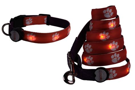 Lighted Collar by Led Lighted Leash Collar By E Glow Bonjourlife