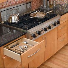 Wood Kitchen Drawer Organizer Inserts, Revashelf 4wct