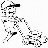 Mowing Lawn Mower Clipart Coloring Cliparts Library Pages Grass Cartoon Mow Kid Push Mickey Mouse Summer Clip Designs Graphics Printable sketch template