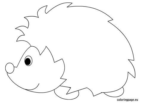 Hedgehog Coloring Sheet