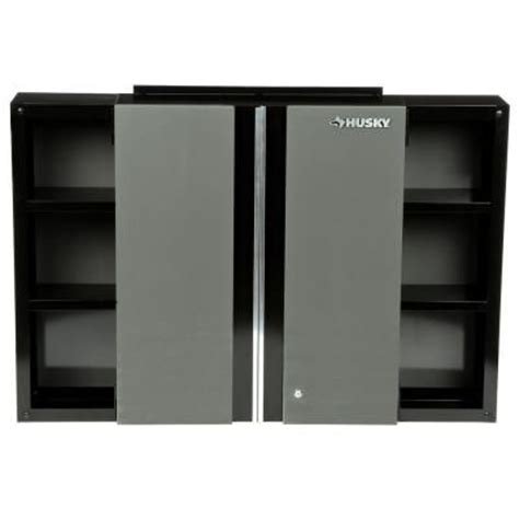 home depot husky cabinet husky 48 in wall cabinet 48wc01bp thd the home depot