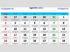 Kalender Indonesia Agustus 2015 Kalender Indonesia 2017