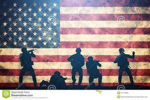 American Flag Us Military Soldiers