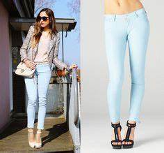 1000+ images about How to wear light blue jeans on Pinterest   Pastel blue Light blue pants and ...