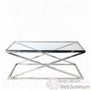 Table Basse Verre Et Acier : table basse acier et verre table basse et pliante ~ Teatrodelosmanantiales.com Idées de Décoration
