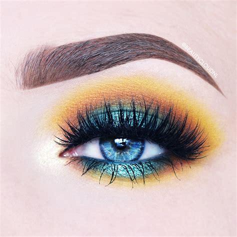 yellow makeup tutorial eye   pinterest