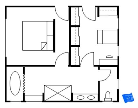 master bedroom floor plan with entrance into the bedroom