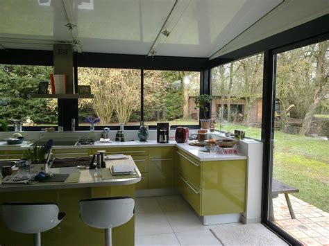 cuisine dans une véranda extension maison