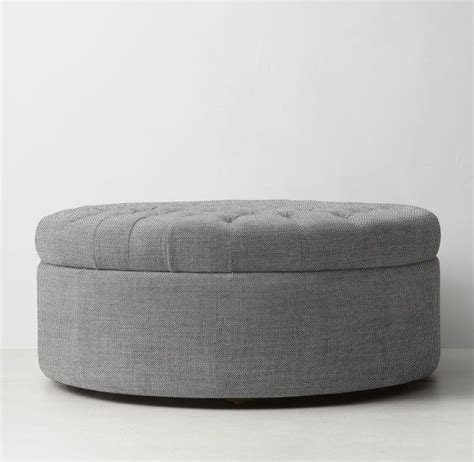 Circle Ottoman by Tufted Large Storage Ottoman The Point Sofas