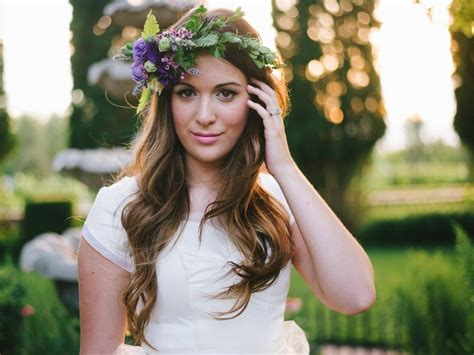 romantic lavender purple pink flower crown halo utah