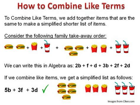 25 best ideas about combining like terms on