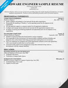 resume sle for computer hardware engineer south