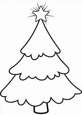 Tree Christmas Coloring Printable Template Templates Blank Stencil Cut Simple Pages Decorations Drawing Pdf Pattern Bare Clipart Stencils Printables Clip sketch template