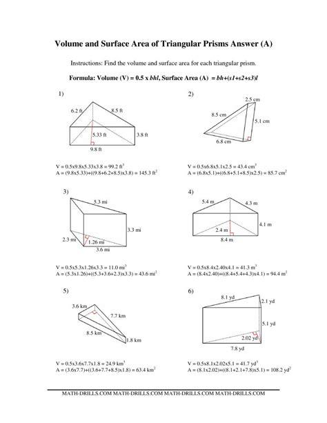 triangular prism worksheet free worksheet printables