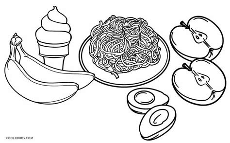 printable food coloring pages  kids coolbkids