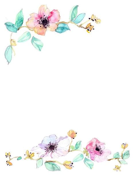 Floral Border Clip Blue Flower Clipart Top Border Pencil And In Color Blue