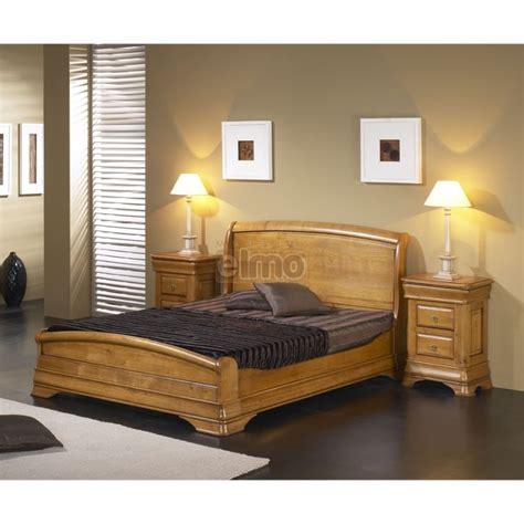 meubles chambre adulte lit adulte merisier massif et chevets style louis philippe