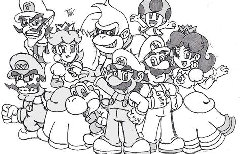Mario 64 Coloring Pages Mario Luigi Bowser Toad Picture Coloring Page