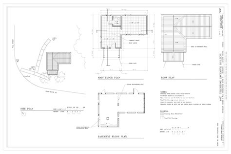 Filesite Plan, Basement Plan, Main Floor Plan, And Roof