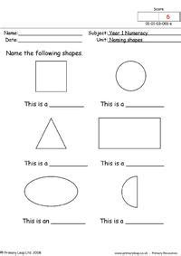 numeracy recognising patterns  shapes worksheet